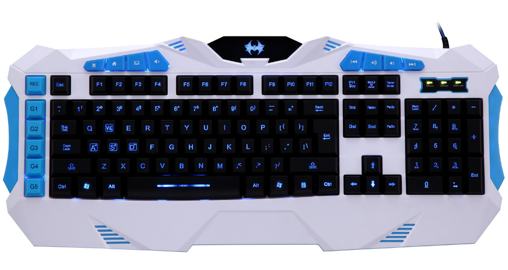 Alibaba Hot Multimedia Membrane Keyboard for Gaming with 1.8m Braided Cooper Wire 10 Million of Keystroke Custom Supported