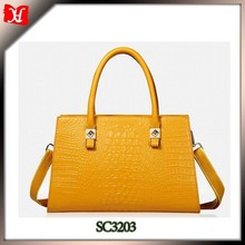 OEM women genuine leather handbag factory in China