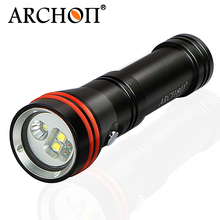 Archon W21VP Red White Diving Underwater Video Flashlight+Arm