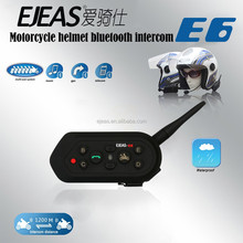 Hot selling EJEAS E6 full duplex intercom system motorcycle