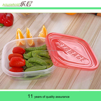 Disposable lunch box sales 600 ml transparent rectangle sealing plastic boxes Microwave oven take-out packaging boxes