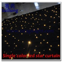 wall install Star curtains stage backdrop