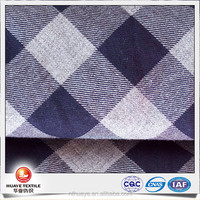 yarn dyed cotton grey melange color plaid fabric for shirt