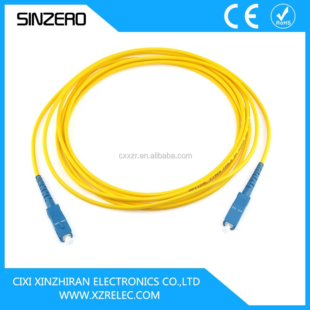 SC-SC Single Mode Simplex Optical Fiber Jumper/outdoor fiber patch cord