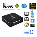best android tv set top box KM5 remote control android tv box 1gb ram 8gb rom amlogic s905 quad core ott tv box 4K tvbox