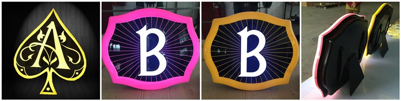 Customized all kind of product logo advertising custom made led signs