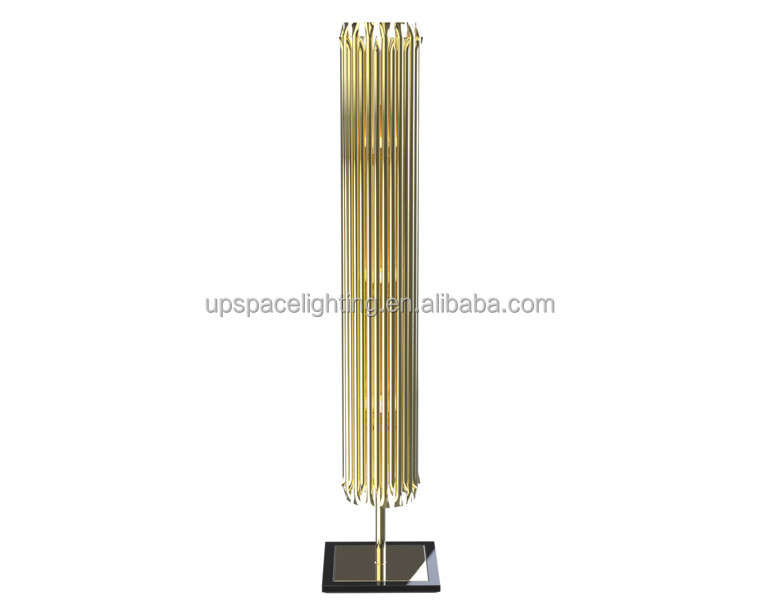 (XCF8787) modern decor hotel project luxury gold chrome Metal Matheny floor lamp