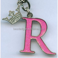 China Wholesale Customized Lovely Alphabetic Metal Key chain BSD130150