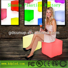 led CUBE plastic led light chair