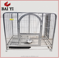 Square Tubing Dog Cage With Wheels And Plastic Tray (Alu Dog Cage)
