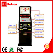 Very Cheap and good quality self service coin payment Lottery dispense kiosk with banknote validator