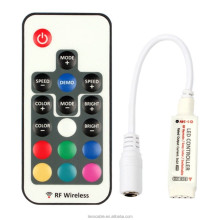 DC5-24V Mini 17key RF Wireless Remote Control 3528 5050 RGB LED Light strip