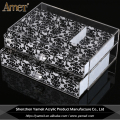 OEM/ODM silk-screening logo transparent acrylic jewelry drawer
