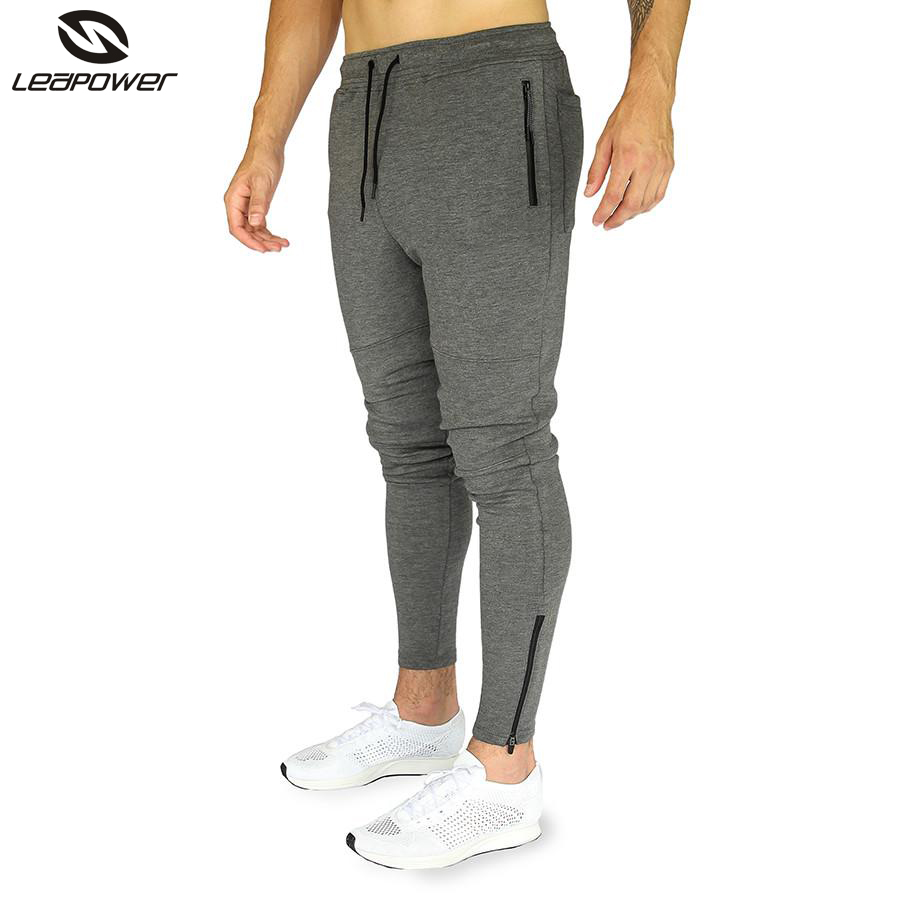 Custom Wholesale Workout Fitness Sweatpants Tapered Slim Fit Gym Cotton Jogger pants Man