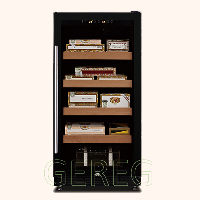 JF-80CF digital cigar humidifier (238L) Load 800 pcs cigars with aluminum alloy door frame