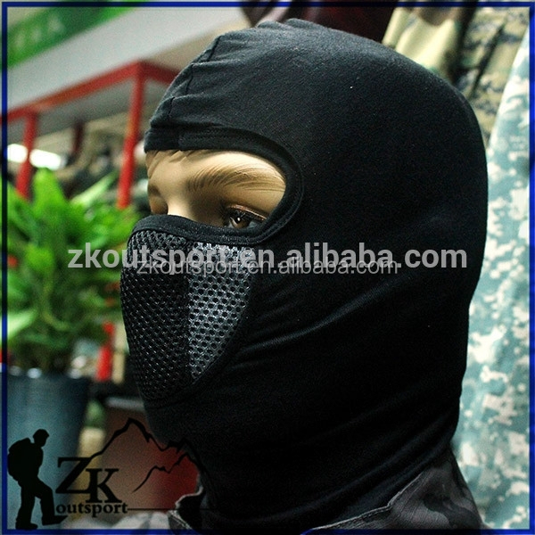 Military Tactical airsoft gear mesh Full face mask with protect neck for Airsoft for Shooting