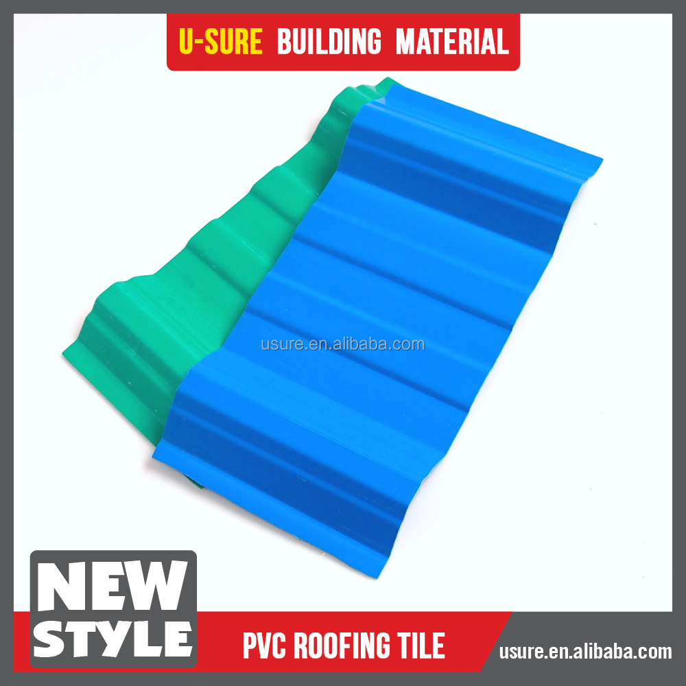 new technology 2017 fire retardant heat resistant plate pvc roof tiles kerala