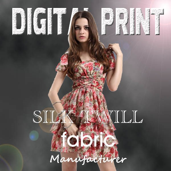 100% silk fabric digital print silk fabric -M