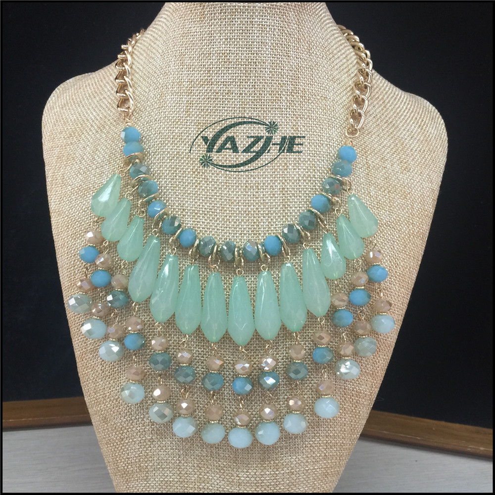 2016 Hot Sale Fashion Necklace With Big Beads