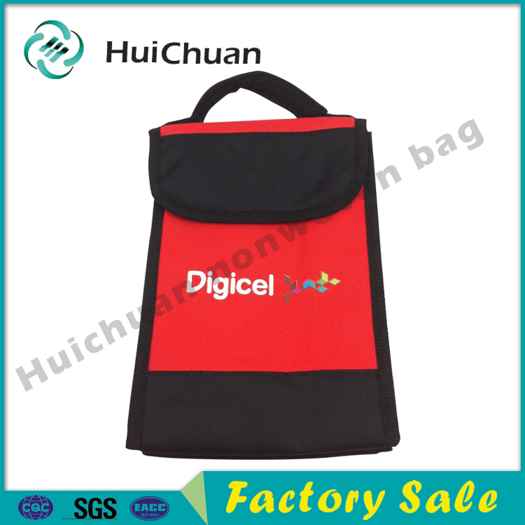 Promotional Lunch Bottle Insulated non woven Cooler Bag for Frozen Food
