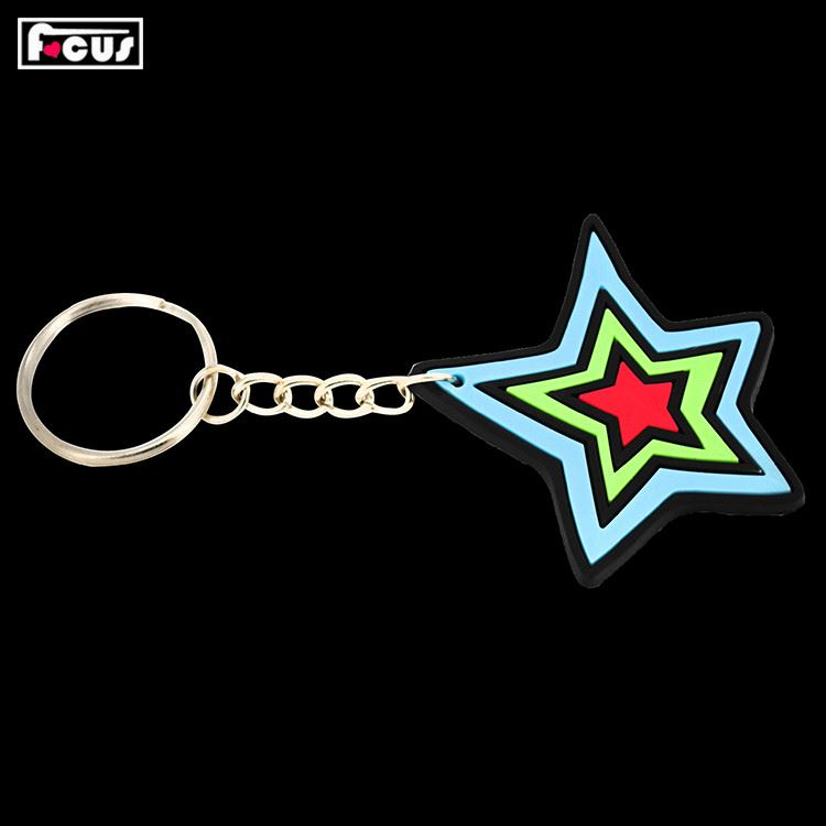 TOP SALE superior quality promotion gift pvc keyring for sale