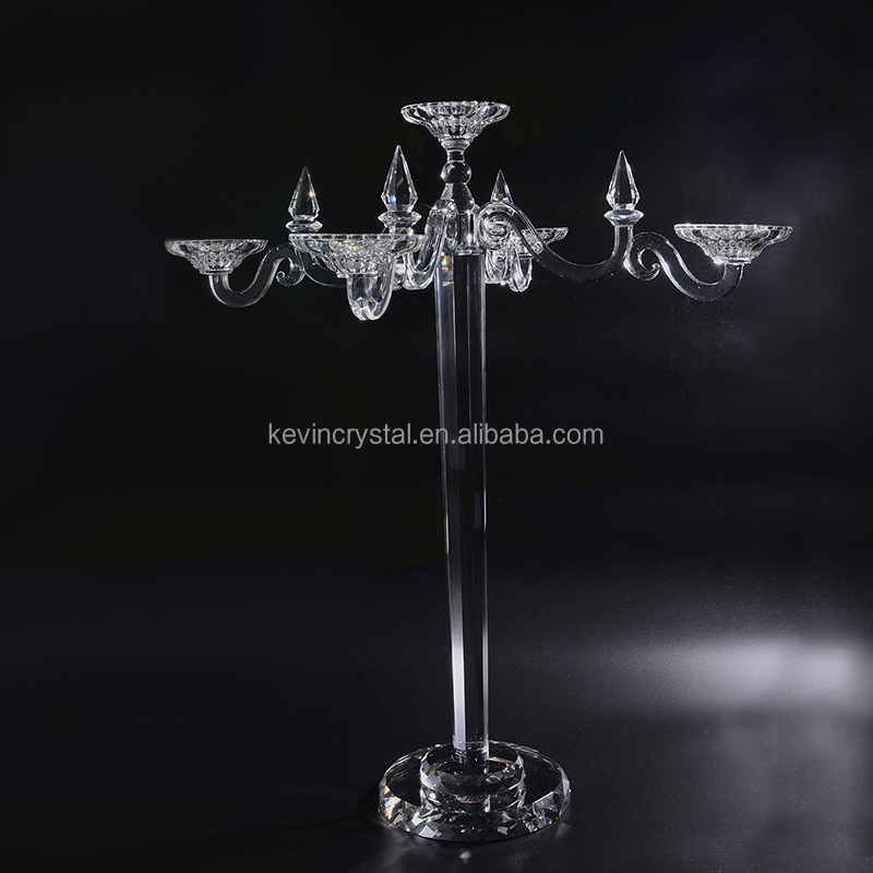 crystal hangings candle holder center piece decoration Wedding crystal Candelabra centerpiece