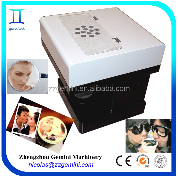 Professional digital edible inkjet printer flatbed for coffee/food/cake