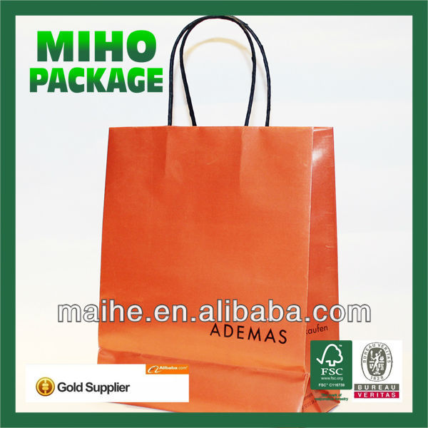 brown kraft paper bag with jute handle