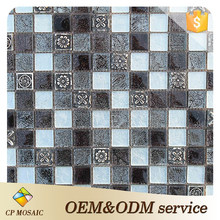 China Popular-Designed Resin And Glass Tile Mosaic