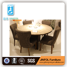 round marble table fabric chairs coffee shop chairs dining table and chairs home furnitures