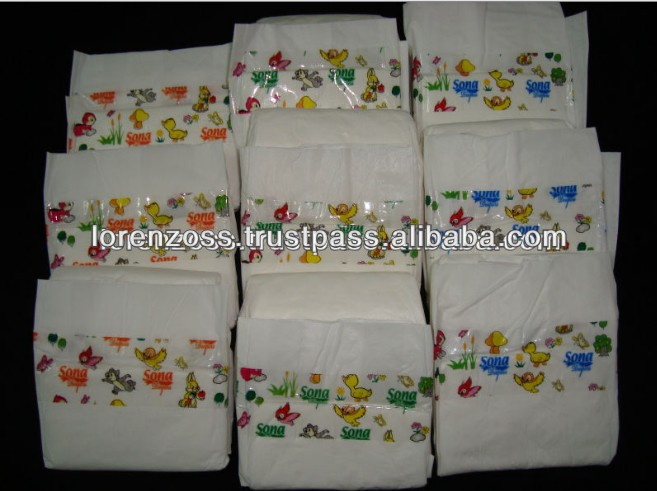 Soft Disposable 100% Cotton Baby Diaper for Sale