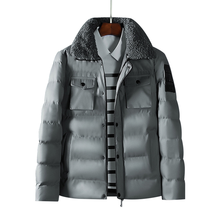 Lamb hair lapel Leisure Warm Men Thickening Cotton Jacket