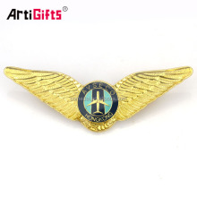 Custom Cheap Epoxy Boy Scout Security Pilot Wing Head Badge