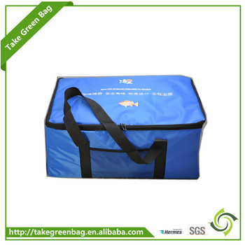 Outdoor 600D oxford insulated cake cooler bag with zipper manufacture