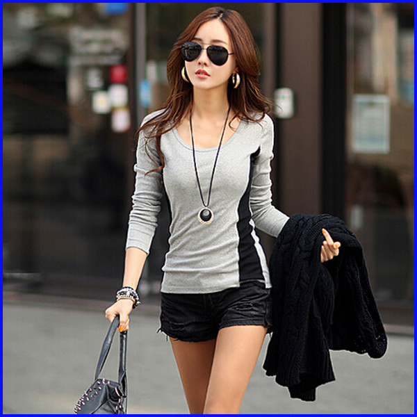 fashion tops for women high quality fit slim casual batwing sleeve women t shirt
