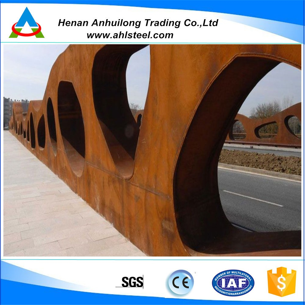 high quality railway carriage weathered corten steel plate