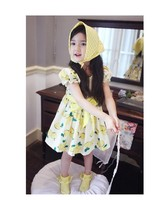 Children Lovely Chevron Clothes Cute Cotton Bow Girls Party Dress