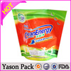 Yason hot rolling knives stand up bag with bottom gusset and nozzel transparent garbage bags
