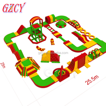 Inflatable Water Amusement Park, Moving Water Park Inflatable Obstacle Course