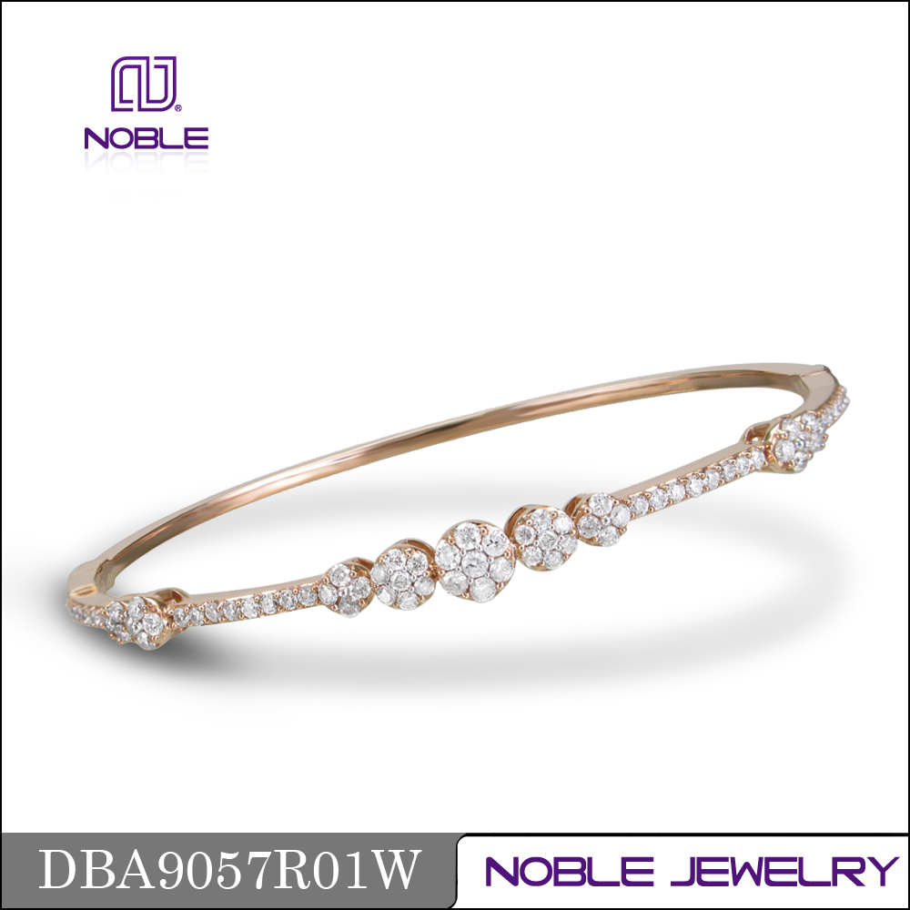 18K rose gold jewelry latest design bangle