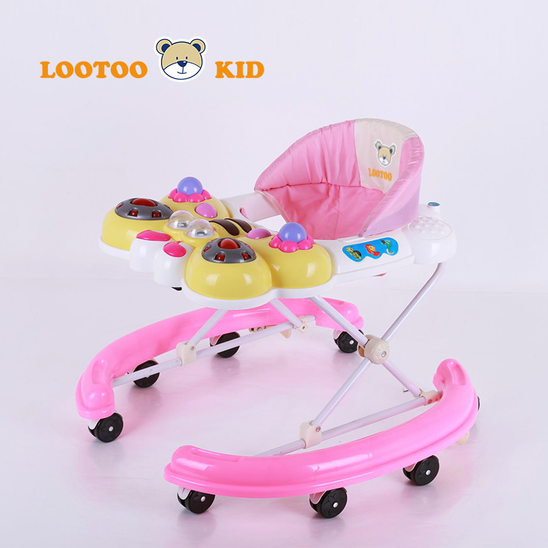 Alibaba Trade Assurance new design baby walkers low price baby carrier 8 wheels plastic walker wagon