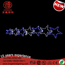 LED outdoor christmas seven star christmas lights motif light for wall and garden decoration