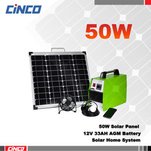 50W fiber optic solar light system, portable solar emergency system