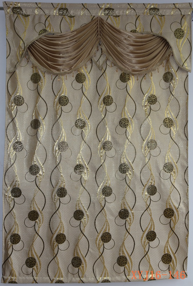 Luxury Iran curtain design woven jacquard curtain valance for sale