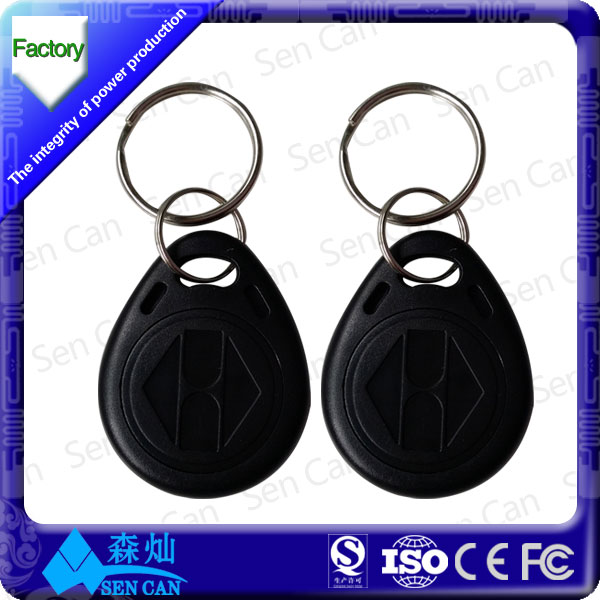 Promotion Waterproof plastic keychain printable RFID smart key tag