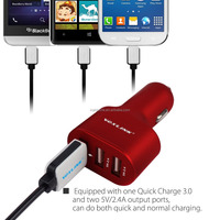 VOXLINK Qualcomm Quick Charge 3.0 Technology 3 port USB car Charger, Intelligent car Charging