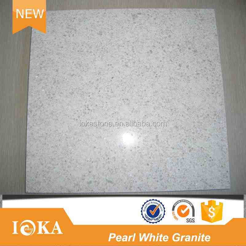 Natuarl Polished Pearl White Granite Stone Tiles
