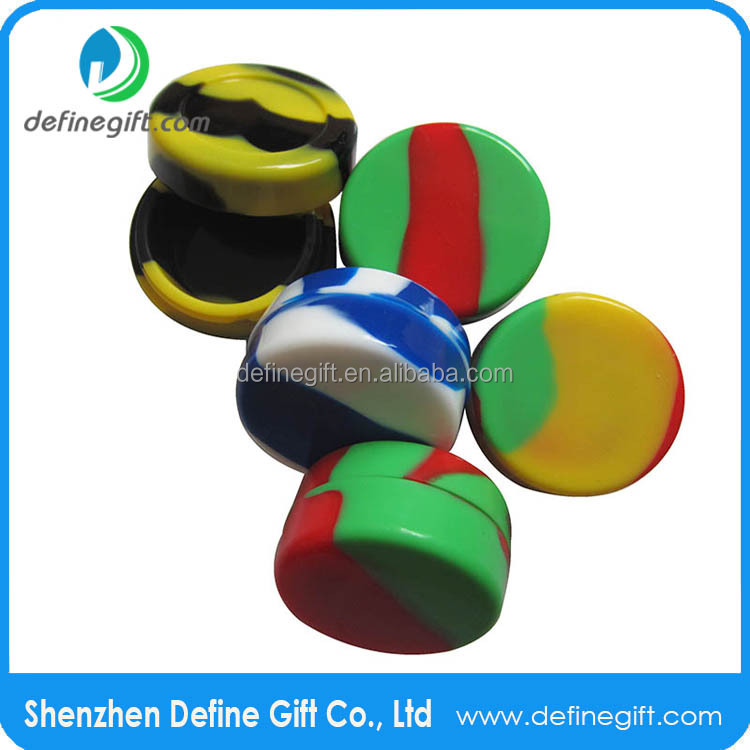 2015 Hot Sale Multi Color Non Stick Silicone Container Concentrate Oil