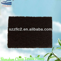 High activated carbon content air filter odor absorbent material