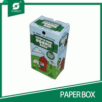 LARGE SIZE CORRUGATED PAPER CARTON BOX FOR BAGS PACKAGING WITH CUSTOM PRINT AND LOGO